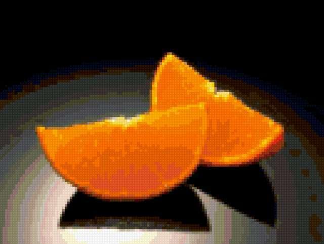 Апельсин вышивка крестом