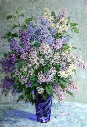 Сирень в вазе, цветы