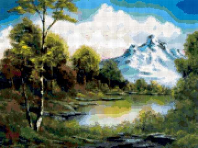 Горное озеро, предпросмотр