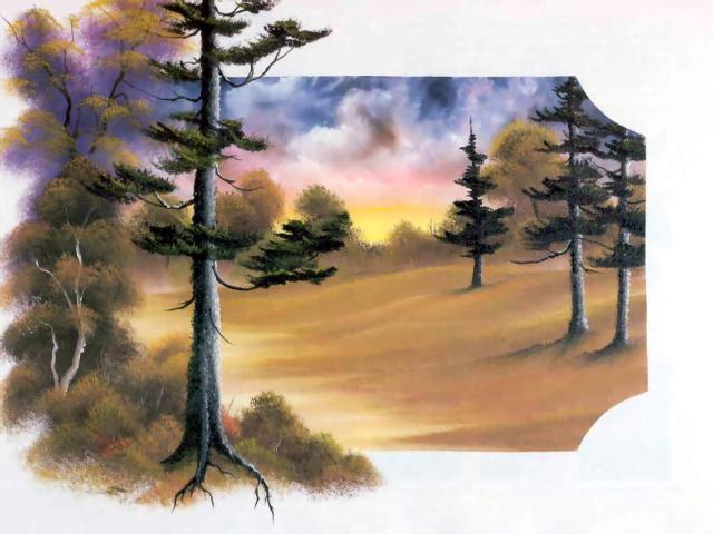 Вышивка крестом лес