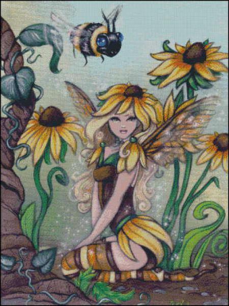схему вышивки «Фея пчел».
