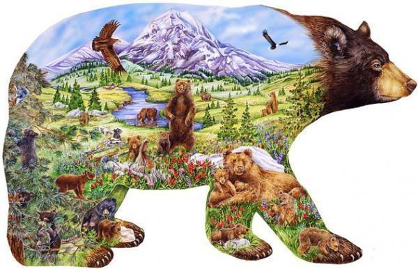 Картинка в картинке(медведь),