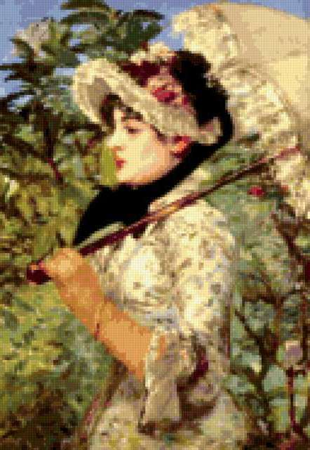 Жанна,Моне 1881г., девушка,