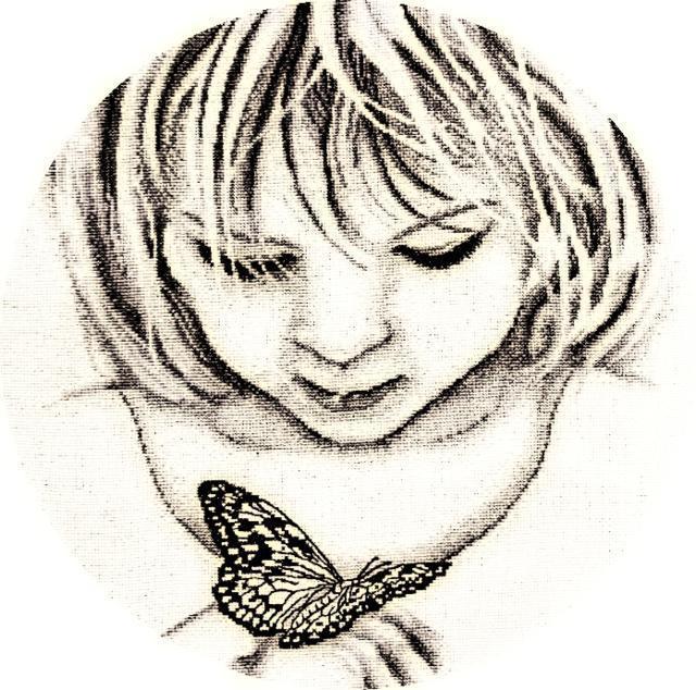 Девочка с бабочкой, оригинал