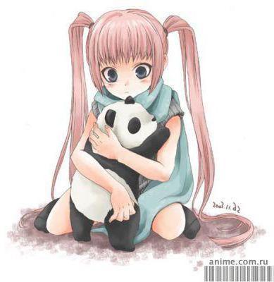 Девочка с пандой, оригинал