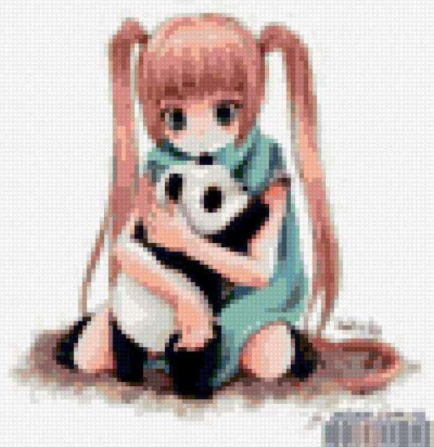 Девочка с пандой, предпросмотр