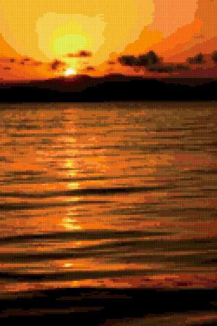 Морской закат, море, закат