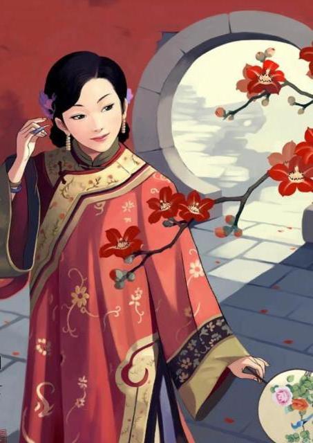 Китайская девушка, оригинал