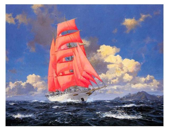 Алые паруса, море корабль