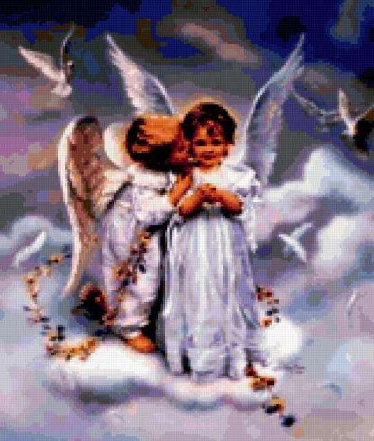 Все для вышивки ангелы 65