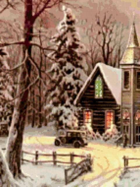 Зимний домик, предпросмотр
