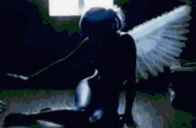Черное и белое - тень ангела,