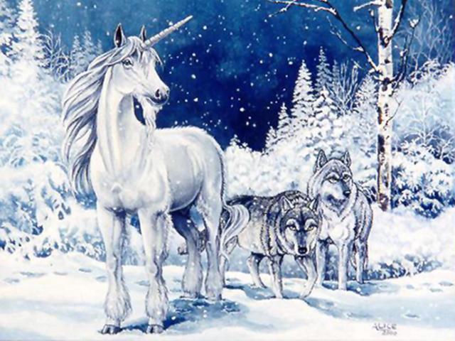 Единорог и волки, оригинал