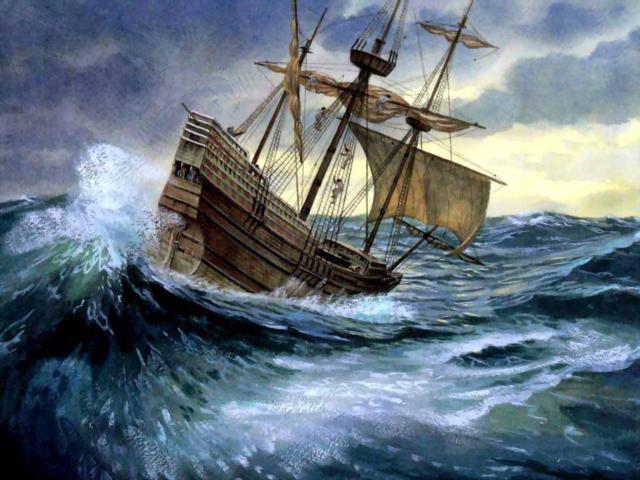Шторм, корабли, море