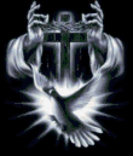 Крест и голубь, предпросмотр