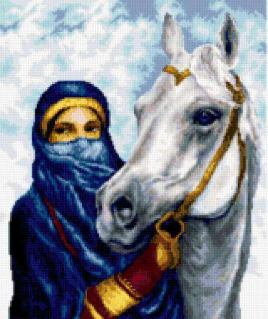 Арабка с лошадью, предпросмотр
