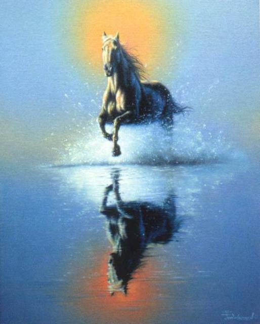 Вышивка крестом бегущая лошадь