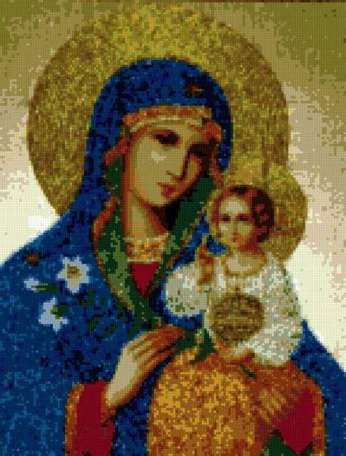 """Мне дарили вот такую, только не из бисера  """"икона божьей матери неувядаемый цвет """".  МОЯ КУХНЯ.  Нетта."""