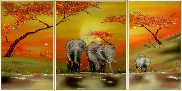 "Триптих ""Слоны"", оригинал"