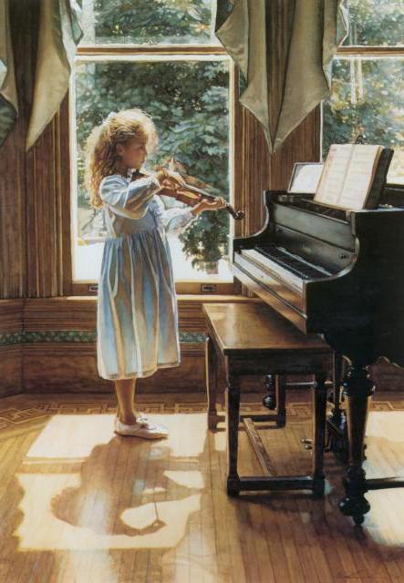 Юная скрипачка,