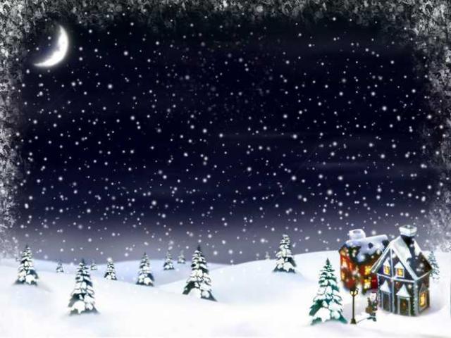 Зимний вечер, оригинал
