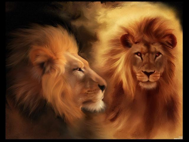 Два льва, оригинал