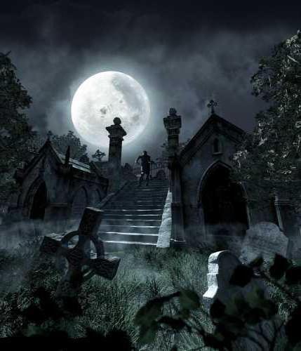 Кладбище ночью,