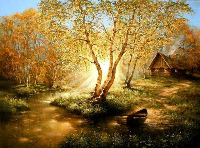 Золотая осень, пейзаж
