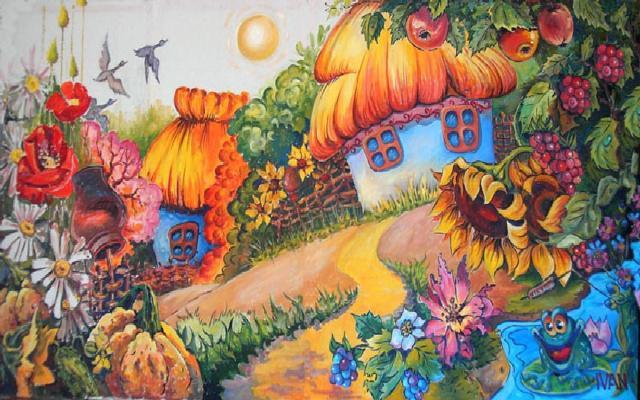 Осень в деревне, осень,