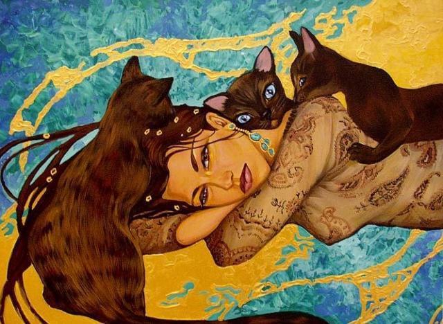 Египетские кошки2, портрет
