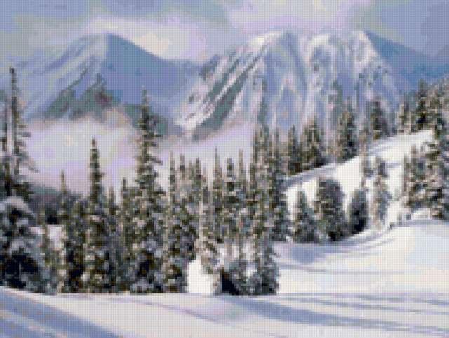 Горы зимой, предпросмотр