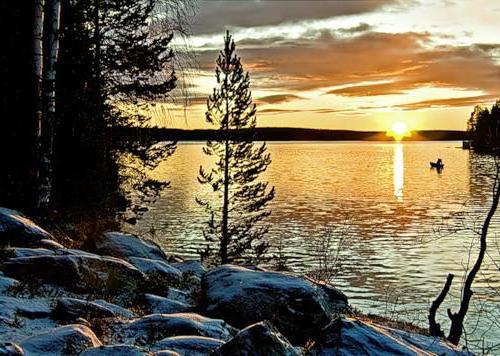 Вечер на озере, оригинал