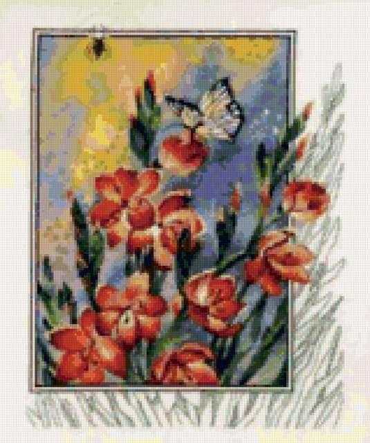 Паук в цветах, предпросмотр