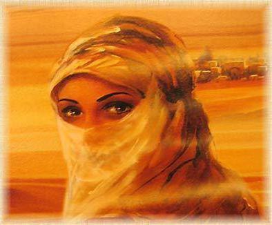 В пустыне, лицо, восток, люди,