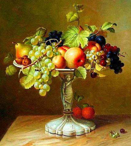 Ваза с фруктами, натюрморт