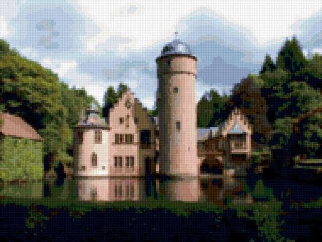 Замок Шенбург, дома, замок