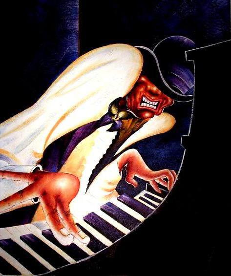 Схема вышивки пианист