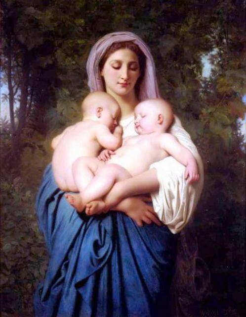 Женщина с детьми, дети,