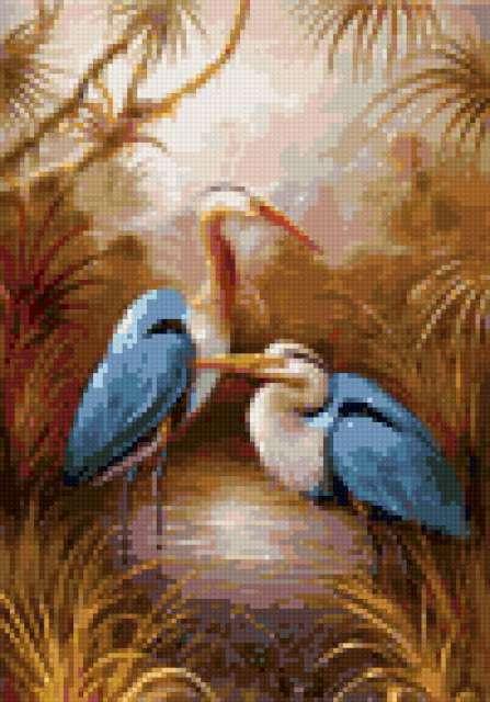 Голубые цапли, предпросмотр