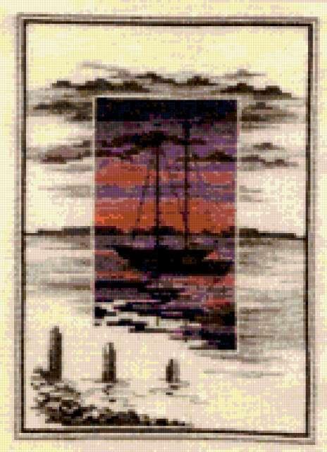 Лодка-коллаж, предпросмотр