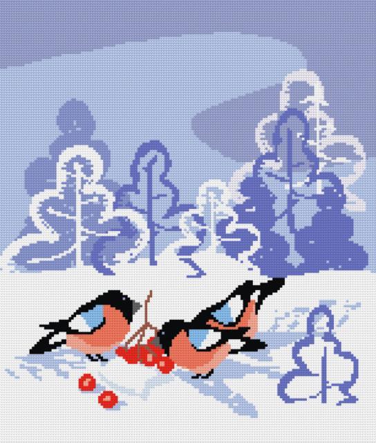Снегири, зима