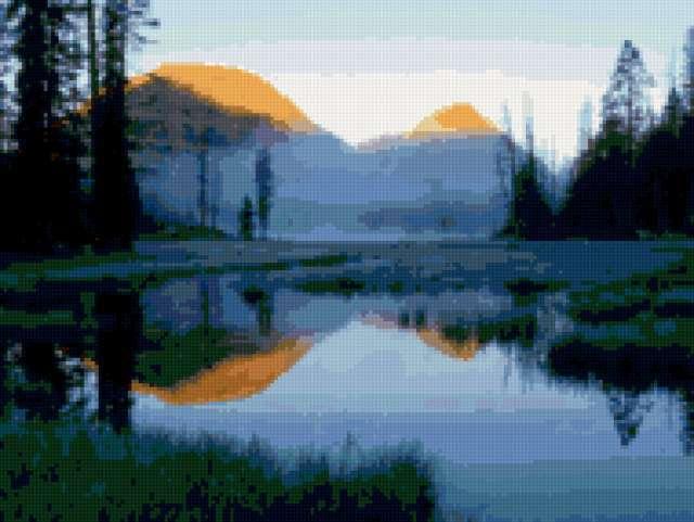 Озеро и горы, предпросмотр