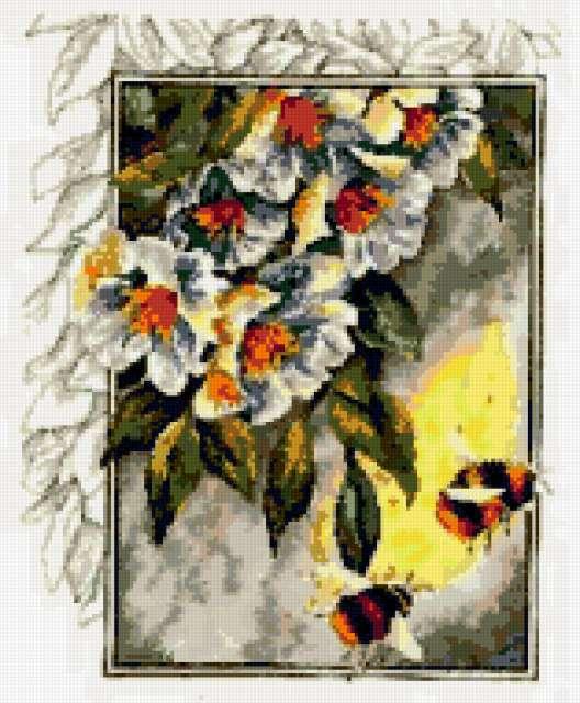 Цветы и пчелы,