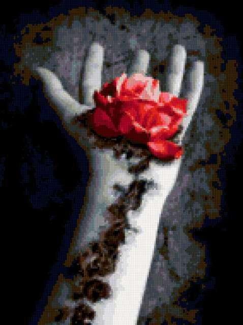 Роза из руки, предпросмотр