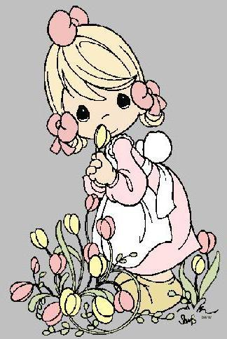 Baby girl with flowers,