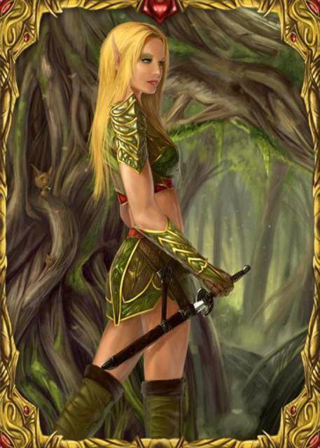 Девушка воин , оригинал