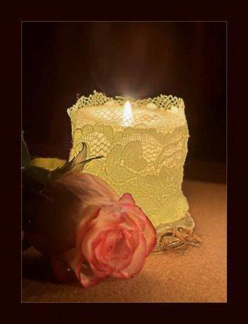 Романтика, роза, свечи