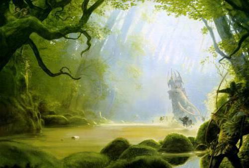 Таинственный лес, пейзаж