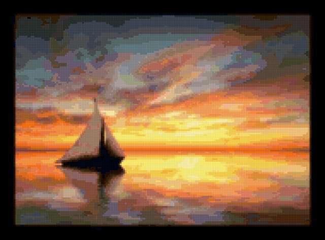 Закат на море, закат,
