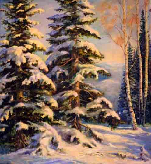 Зимний лес, оригинал